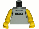 Part No: 973bpb159c01  Name: Torso NBA Street Player - Gray Shirt and 3 Squares Pattern / Yellow NBA Arms