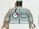 Part No: 973p29c01  Name: Torso Fire Air Gauge and Pocket Pattern / Light Gray Arms / Black Hands