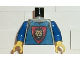 Part No: 973px118c01  Name: Torso Castle Knights Kingdom Vest, Shield and Lion Head Pattern / Blue Arms / Yellow Hands