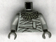 Part No: 973px167c01  Name: Torso Studios Old Bandage Wrapping and Necklace Pattern (Mummy) / Light Gray Arms / Dark Gray Hands