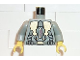 Part No: 973px57c02  Name: Torso Space LoM Gold Triangular Machinery and Belt Pattern / Light Gray Arms / Yellow Hands
