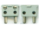 Part No: bb0081c01  Name: Electric, Connector, 2-Way Male Squared Narrow Long without Center Post