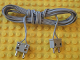 Part No: bb0081c190  Name: Electric, Wire 12V / 4.5V with two 2-prong connectors without middle pin, 190 Studs Long