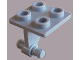 Part No: bb0164  Name: Plate, Modified 2 x 2 Thin with Dual Wheels Holder - Solid Pins