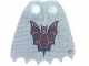 Part No: bb0190pb01  Name: Minifigure, Cape Cloth, Scalloped 6 Points with Bat Pattern