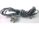 Part No: bb1136v96  Name: Electric, Wire & Connector 12V / 4.5V with 2 Leads, 96 Studs Long with 2 Light Gray Electric, Connector, 2-Way Male Squared Narrow Long without Center Post with Center Hole (x466c96 / bb1136c01)