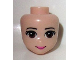 Part No: 14011  Name: Mini Doll, Head Friends with Brown Eyes, Pink Lips and Closed Mouth Pattern