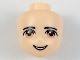Part No: 19611  Name: Mini Doll, Head Friends Male with Light Brown Eyes, Eyebrows and Open Smile Pattern