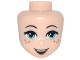 Part No: 30991  Name: Mini Doll, Head Friends with Medium Azure Eyes, Freckles, Dark Tan Lips and Open Smile Pattern