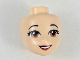 Part No: 31950  Name: Mini Doll, Head Friends with Light Brown Eyes, Red Lips and Open Mouth Pattern (Snow White)