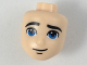Part No: 33783  Name: Mini Doll, Head Friends Male with Blue Eyes, Thick Black Eyebrows and Smirk Pattern