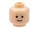 Part No: 3626bp01  Name: Minifigure, Head Standard Grin Pattern - Blocked Open Stud