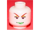 Part No: 3626bpb0063  Name: Minifigure, Head Female with Green Lips and Red Eyebrows Pattern (Poison Ivy) - Blocked Open Stud