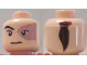 Part No: 3626bpb0065  Name: Minifigure, Head Male Left Eye Scarred Area and No Eyebrow, Ponytail on Back Pattern (Prince Zuko) - Blocked Open Stud