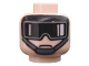 Part No: 3626bpb0071  Name: Minifigure, Head Glasses with Black Goggles, Gray Chin Strap Pattern (SW Imperial AT-ST Pilot) - Blocked Open Stud