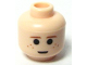 Part No: 3626bpb0127  Name: Minifigure, Head Brown Eyebrows and Freckles, Large Pupils Pattern - Blocked Open Stud