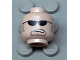 Part No: 3626bpb0202  Name: Minifigure, Head Glasses with Black Sunglasses, Partially Open Mouth, Sideburns and Stubble Pattern - Blocked Open Stud