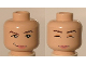 Part No: 3626bpb0210  Name: Minifigure, Head Dual Sided Female with Awake / Asleep Pattern (HP Hermione) - Blocked Open Stud