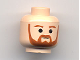 Part No: 3626bpb0235  Name: Minifigure, Head Beard with Brown Trim Beard (round below mouth) and Eyebrows Pattern - Blocked Open Stud