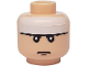 Part No: 3626bpb0260  Name: Minifigure, Head Male White Headband Pattern (Batman) - Blocked Open Stud