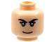 Part No: 3626bpb0285  Name: Minifigure, Head Male Black Eyebrows, Eyelashes, Smile, White Pupils Pattern - Blocked Open Stud