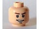 Part No: 3626bpb0288  Name: Minifigure, Head Male Brown Eyebrows, Open Lopsided Grin, Chin Dimple, White Pupils Pattern - Blocked Open Stud