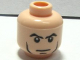 Part No: 3626bpb0296  Name: Minifigure, Head Male Stern Eyebrows, White Pupils, Cheek Lines, Chin Dimple Pattern - Blocked Open Stud