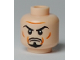 Part No: 3626bpb0422  Name: Minifigure, Head Black Goatee, Arched Eyebrows, White Pupils Pattern - Blocked Open Stud