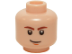 Part No: 3626bpb0442  Name: Minifigure, Head Male Brown Eyebrows, White Pupils and Brown Chin Dimple Pattern (SW Han Solo) - Blocked Open Stud