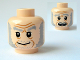 Part No: 3626bpb0588  Name: Minifigure, Head Dual Sided HP Ollivander Smile / Scared Pattern - Blocked Open Stud