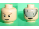 Part No: 3626bpb0651  Name: Minifigure, Head Dual Sided Male Stern Brown Eyebrows and Pupils / Gray Visor Pattern - Blocked Open Stud