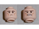 Part No: 3626bpb0735  Name: Minifigure, Head Dual Sided LotR Legolas Calm / Grimacing Pattern - Blocked open Stud