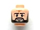 Part No: 3626bpb0977  Name: Minifigure, Head Beard Dark Brown Full, Dark Brown Eyebrows,  White Pupils, Crow's Feet Pattern - Blocked Open Stud