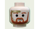 Part No: 3626bpx325  Name: Minifigure, Head Beard with Dark Orange Trim Beard (round below mouth) and Eyebrows, Gold Headset Pattern - Blocked Open Stud