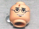 Part No: 3626bpx327  Name: Minifigure, Head Glasses with Lightning Bolt on Forehead, Eyebrows Above Glasses Pattern (HP Harry) - Blocked Open Stud