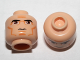 Part No: 3626cpb0314  Name: Minifigure, Head Male Black Thick Eyebrows, Large Eyes, Cheek Lines Pattern (SW Clone Wars Trooper) - Hollow Stud