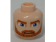 Part No: 3626cpb0316  Name: Minifigure, Head Beard Dark Orange, Eyebrows and Moustache and Large Blue Eyes Pattern (SW Clone Wars Obi-Wan Kenobi) - Hollow Stud