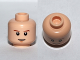 Part No: 3626cpb0408  Name: Minifigure, Head Male Brown Eyebrows, White Pupils and Chin Dimple Pattern (SW Luke Skywalker) - Hollow Stud