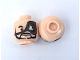 Part No: 3626cpb0421  Name: Minifigure, Head Beard, Moustache, Large Eyepatch, Determined Expression Pattern - Hollow Stud