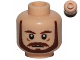 Part No: 3626cpb0620  Name: Minifigure, Head Beard with Brown Eyebrows, Moustache and Beard Pattern - Hollow Stud
