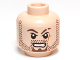 Part No: 3626cpb0649  Name: Minifigure, Head Beard Stubble, Goatee, Scar on Left Cheek and Eyebrow Pattern - Hollow Stud