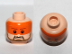 Part No: 3626cpb0679  Name: Minifigure, Head Male, Dark Tan Beard and Eyebrows, Orange Visor Pattern - Hollow Stud