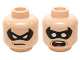 Part No: 3626cpb0702  Name: Minifigure, Head Dual Sided Male Black Eye Mask with Eye Holes, Determined / Scared Pattern (Robin) - Hollow Stud