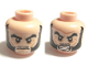 Part No: 3626cpb0709  Name: Minifigure, Head Dual Sided Bushy Black Eyebrows and Long Thick Sideburns, Frown / Angry Pattern - Hollow Stud