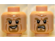 Part No: 3626cpb0754  Name: Minifigure, Head Dual Sided LotR Goatee Smirk / Determined Pattern (King Theoden) - Hollow Stud