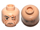 Part No: 3626cpb0778  Name: Minifigure, Head Male Scar over Left Eye, Wrinkles Pattern (SW Even Piell) - Hollow Stud
