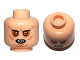 Part No: 3626cpb0782  Name: Minifigure, Head Alien with Bared Pointed Teeth, Red Eyes and Wrinkles Pattern (SW Bib Fortuna) - Hollow Stud