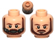 Part No: 3626cpb0795  Name: Minifigure, Head Dual Sided Beard, Brown Eyebrows, Moustache, White Pupils / Breathing Apparatus Pattern (SW Qui-Gon) - Hollow Stud
