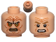 Part No: 3626cpb0808  Name: Minifigure, Head Dual Sided Wrinkles, Sunken Yellow Eyes / Black Eyes with White Pupils Pattern (SW Palpatine) - Hollow Stud