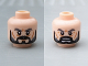 Part No: 3626cpb0814  Name: Minifigure, Head Dual Sided LotR Dark Bluish Gray Eyebrows, Black Beard, Wrinkles, Stern / Open Mouth with Teeth Pattern - Hollow Stud